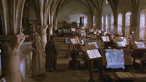 Frame tratto dal film  Il nome della rosa