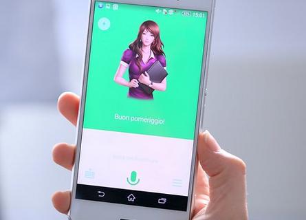 Immagine assistente vocale su smartphone