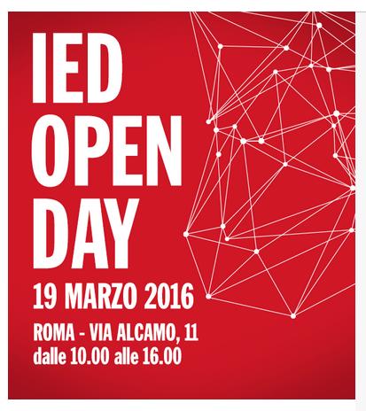Open day IED 2016 con il prof. Americo Bazzoffia