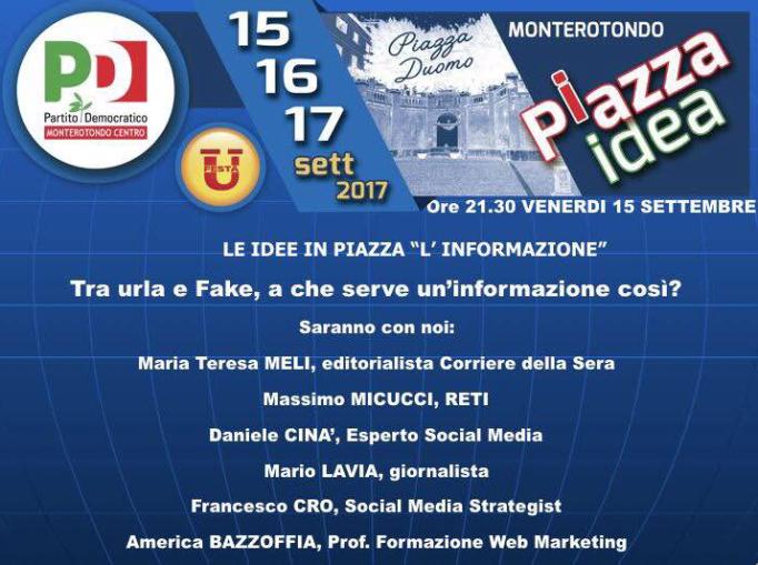 Americo Bazzoffia parla di Fake News alla Festa dell'Unità di Monterotondo Roma