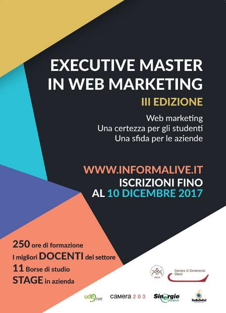 Il prof. Americo Bazzoffia è docente all' Excutive Master in Web Marketing di Chieti