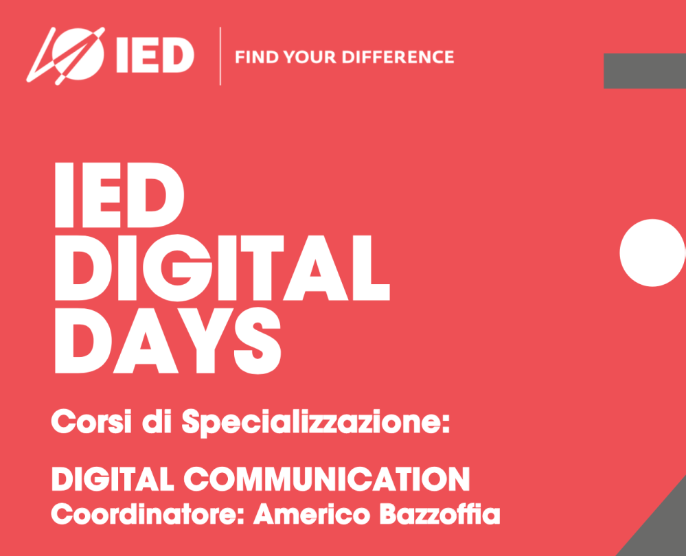 IED DIGITAL DAYS prof. Americo Bazzoffia presenta il corso in Digital Communication